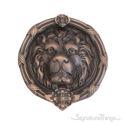"""Leo Lion Door Knocker 8-3/8"""" -  Venetian Bronze"""
