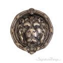 """Leo Lion Door Knocker 8-3/8"""" -  Antique Nickel (Pewter)"""