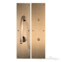 Antimicrobial Push & Pull Plate Set - Antique Brass