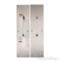 Antimicrobial Push & Pull Plate Set - Satin Stainless