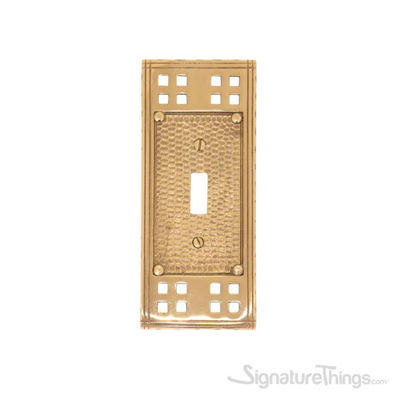 Arts & Crafts Single Swtich - Polished Brass