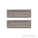 "Flaps Both Sides Brass Mail Slot - 3"" x 10"" -  Satin Nickel"