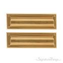 "Flaps Both Sides Brass Mail Slot - 3"" x 10"" -  Lifetime Polished Brass"