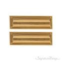 "Flaps Both Sides Brass Mail Slot - 3-5/8"" x 13"" - Polished Brass"