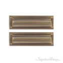 "Flaps Both Sides Brass Mail Slot - 3-5/8"" x 13"" -Antique Brass"