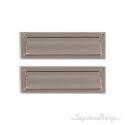 "Flaps Both Sides Brass Mail Slot - 3-5/8"" x 13"" - Satin Nickel"
