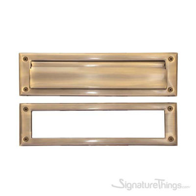 "Brass Mail Slot - 3"" x 10"" - Antique Brass"