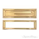 "Brass Mail Slot - 3"" x 10"" - Lifetime Polished Brass"