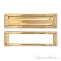 "Brass Mail Slot - 3-5/8"" x 13"" - Lifetime Polished Brass"