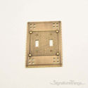 Arts & Crafts Double Switch-Antique Brass