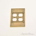 Arts & Crafts Double Outlet-Antique Brass