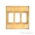 Arts & Crafts Triple GFCI-Polished Brass
