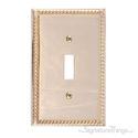 Georgian Single Switch-Polished Brass