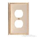 Georgian Single Outlet-Polished Brass