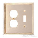 Georgian Double; 1-Switch/1-Outlet-Polished Brass