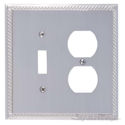 Georgian Double; 1-Switch/1-Outlet-Satin Nickel