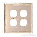Georgian Double Outlet-Polished Brass
