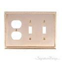 Georgian Triple; 2-Switch/1-Outlet-Polished Brass