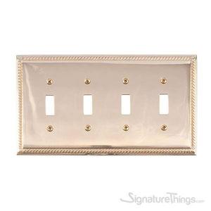 Georgian Quad Switch-Polished Brass