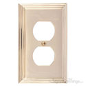 Classic Steps Single Switch Outlet-Polished Brass
