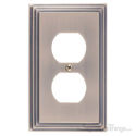 Classic Steps Single Switch Outlet-Antique Brass