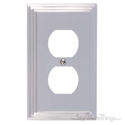 Classic Steps Single Switch Outlet-Satin Nickel