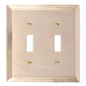Classic Steps Double Switch-Polished Brass