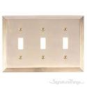 Classic Steps Triple Switch-Polished Brass