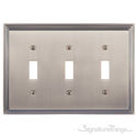 Classic Steps Triple Switch-Antique Brass