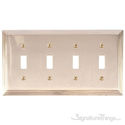 Classic Steps Quad Swtich-Polished Brass