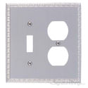 Egg & Dart Double; 1-Switch/1-Outlet-Satin Nickel