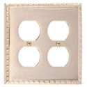 Egg & Dart Double Outlet-Polished Brass