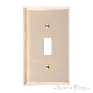 Quaker Single Switch-Polished Brass