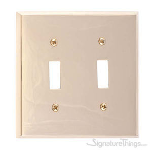 Quaker Double Switch-Polished Brass