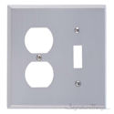 Quaker Double; 1-Switch/1-Outlet-Satin Nickel