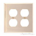 Quaker Double Outlet-Polished Brass