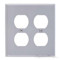 Quaker Double Outlet-Satin Nickel