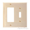 Quaker Double; 1-Switch/1-GFCI-Polished Brass