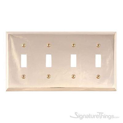 Quaker Quad Switch-Polished Brass