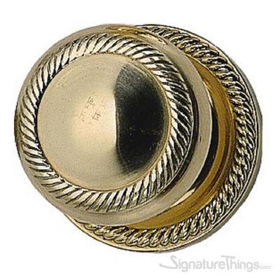 Charleston Door Knob with Circle Rosette - Polished Brass