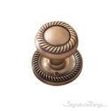 Charleston Door Knob with Circle Rosette - Antique Brass
