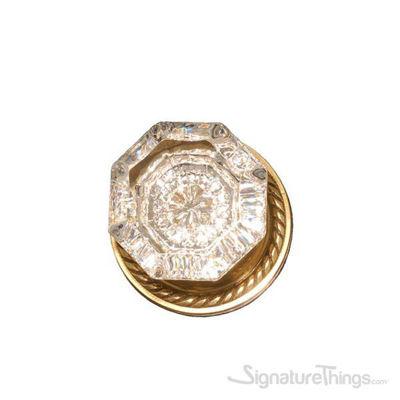 Hartford Door Knob with Rosette - Polished Brass