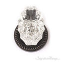Savannah Fluted Crystal Door Knob with Rosette - Venetian Bronze