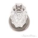 Savannah Fluted Crystal Door Knob with Rosette - Satin Nickel
