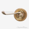 Charleston Fairport Door Lever with Rosette - Polished Brass