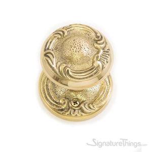 Lafayette Rosette Door Knob - Polished Brass