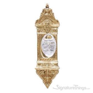 L'enfant Georgetown Oval Crystal Door Knob - Polished Brass