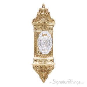 L'enfant Savannah Fluted Crystal Door Knob - Polished Brass