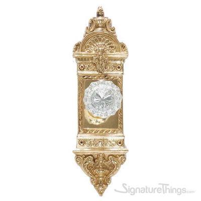 L'enfant Victorian Fluted Glass Door Knob - Polished Brass
