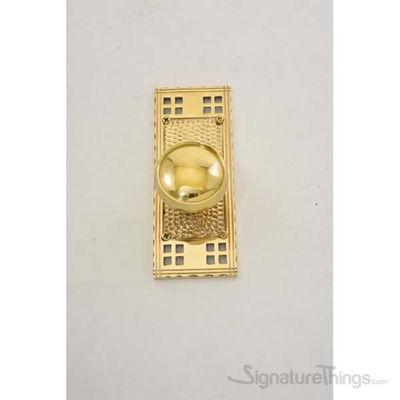 Arts & Crafts Netropol Door Knob - Polished Brass
